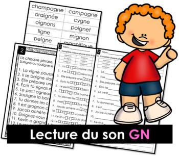 Lecture du son GN - Lis, surligne ou souligne, complète et écris