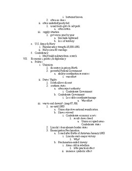 Lecture notes-ch.14-US Hist to 1877-The Civil War