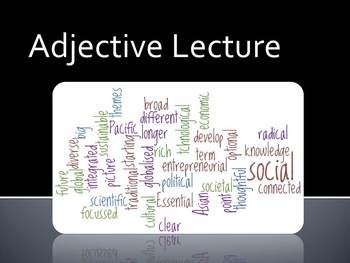Lecture on Adjectives