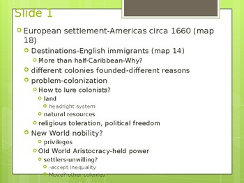 Lecture power point-ch.2-US Hist to 1877-english colonization of America
