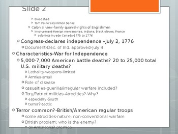 Lecture power point-ch.5-US Hist to 1877-The Revolutionary War