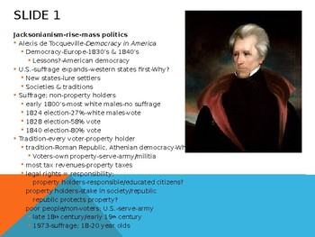 Lecture power point-ch.9-US Hist to 1877-The Jacksonian Era