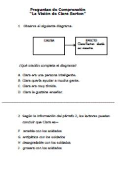 Lecturitas-SPANISH Biography of Clara Barton-NO PREP