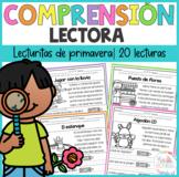 Lecturitas de comprensión de Primavera Spring Reading comprehension in Spanish