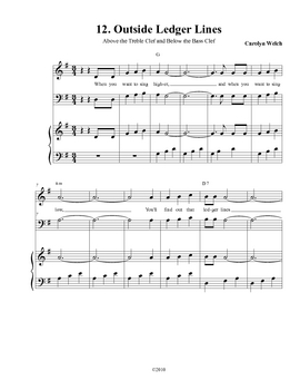Ledger Line Song, Teacher Edition