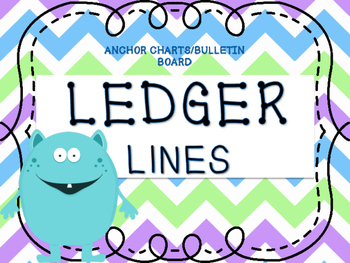 LEDGER LINES ANCHOR CHART/ BULLETIN BOARD