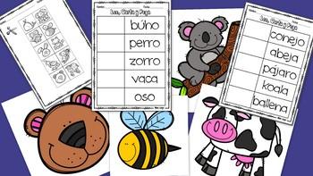 Lee, Corta, y Pega  Reading Comprehension Worksheets