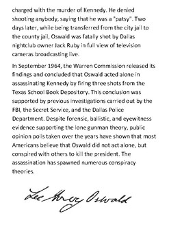 Lee Harvey Oswald Handout
