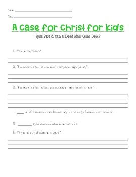 Lee Strobel's A Case for Christ for Kids: Outline & Teacher's Guide