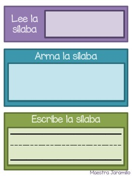 Lee, arma, y escribe- Sílabas (Spanish Syllables Word Work)