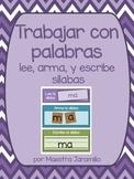 Lee, arma, y escribe- Sílabas (Spanish Syllables Word Work)
