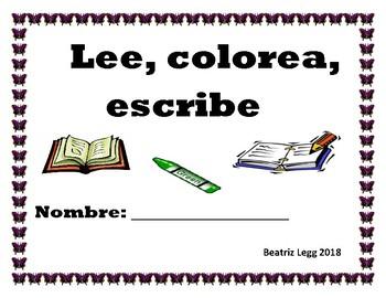Lee, colorea, escribe