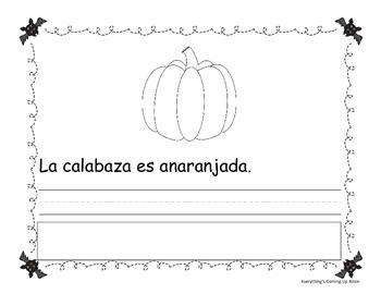 FREEBIE Lee, escribe y pega - Halloween.  Read it, Write it, Glue it in Spanish