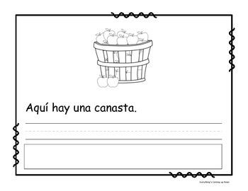 Lee, escribe y pega - noviembre.  Read it, Write it, Glue it in Spanish