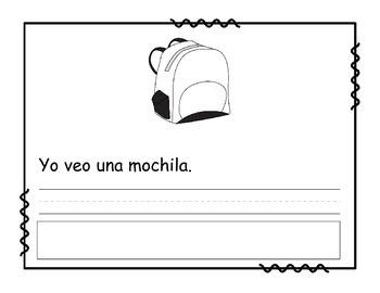 Lee, escribe y pega - septiembre.  Read it, Write it, Glue it in Spanish