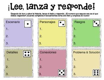 Lee, lanza y responde - Reading exercises