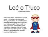 Lee o Truco: A Spanish Sight Word Game