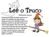 Lee o Truco! Halloween Spanish Sight Word Game