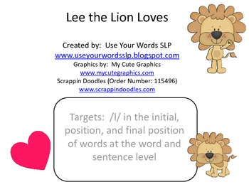 Lee the Lion Loves