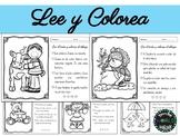 Lee y Colorea español Comprensión Lectora instrucciones