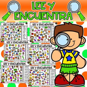 Lee y Encuentra (Palabras de 2-3 sílabas)