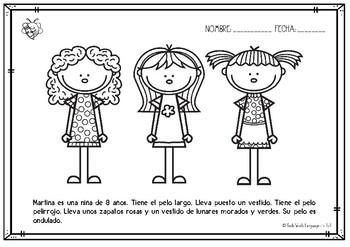 Lee y colorea instrucciones Read and color following directions Spanish Español