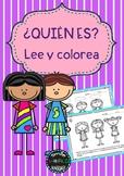 Lee y colorea instrucciones Read and color following direc