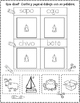 Leer, Cortar, y Pegar Actividades para Primero y Kindergarten
