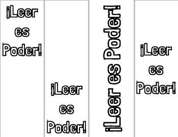Leer es Poder bookmark