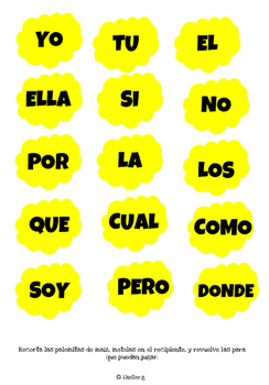 Leer hace tu mente POP! Classic POP game! SIGHT WORDS! español
