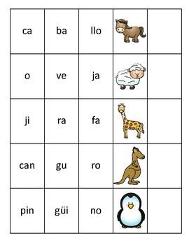 Leer palabras con 3 sílabas | Read words with 3 syllables Spanish