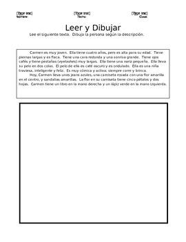 Leer y Dibujar - Read and Draw