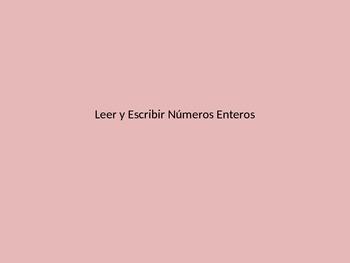 Leer y Escribir Numeros, STAAR Review, Introduction