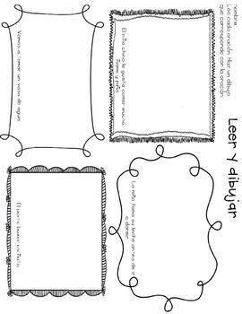 Leer y dibujar- Read and Draw ñ y ch