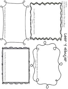Leer y dibujar Read and draw- ll & ca, co, cu