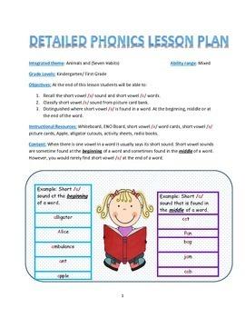 Leeson Plan Short Vowel a