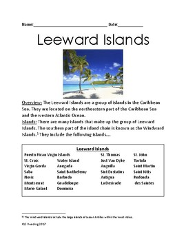 Leeward Islands - Caribbean review article information facts lesson questions