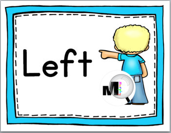 Positional Words - Left & Right Posters – Solid Color Borders