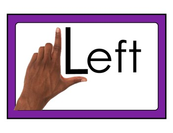 Left Hand, Right Hand Reference Posters