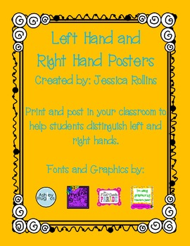 Left Hand and Right Hand Posters