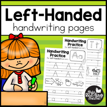 Left-Handed Handwriting Pages