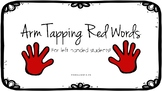 Left Handed Red Words Arm Tapping Guide