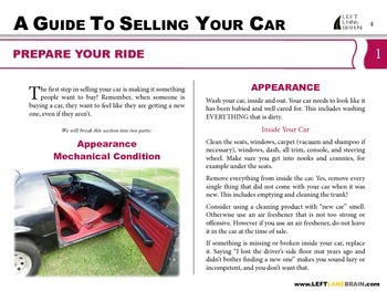 Left Lane Brain Series - A Guide to Selling Your Car