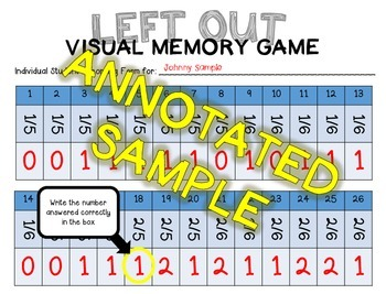 Left Out - Visual Memory Tasks