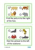 Positional Words Reading Directions Autism Special Education