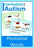 Positional Words Reading Directions Autism Literacy ESL