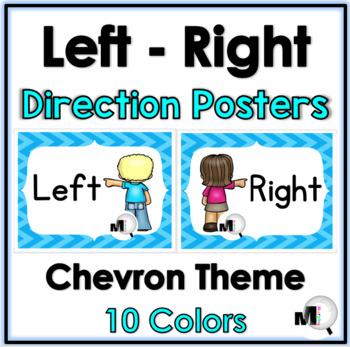 Positional Words - Left  & Right - Chevron Theme