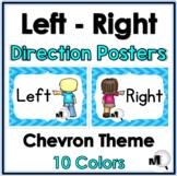 Positional Words - Left  & Right - Chevron Theme Classroom Decor