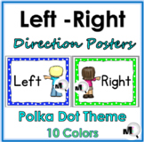 Polka Dot Classroom Decor Left & Right Posters - Positional Words