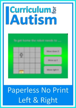 Left Right Directions, Paperless No Print Interactive PDF Autism, Special Ed